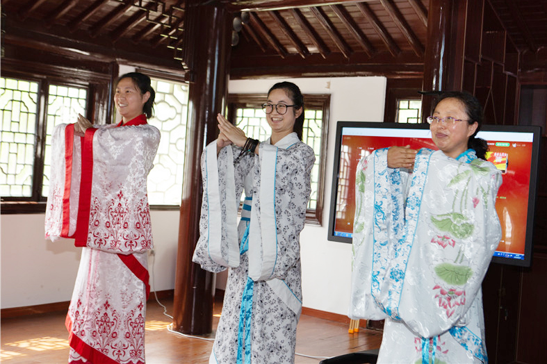 钱圩中学开展2019暑期校本培训——国学礼仪和茶文化