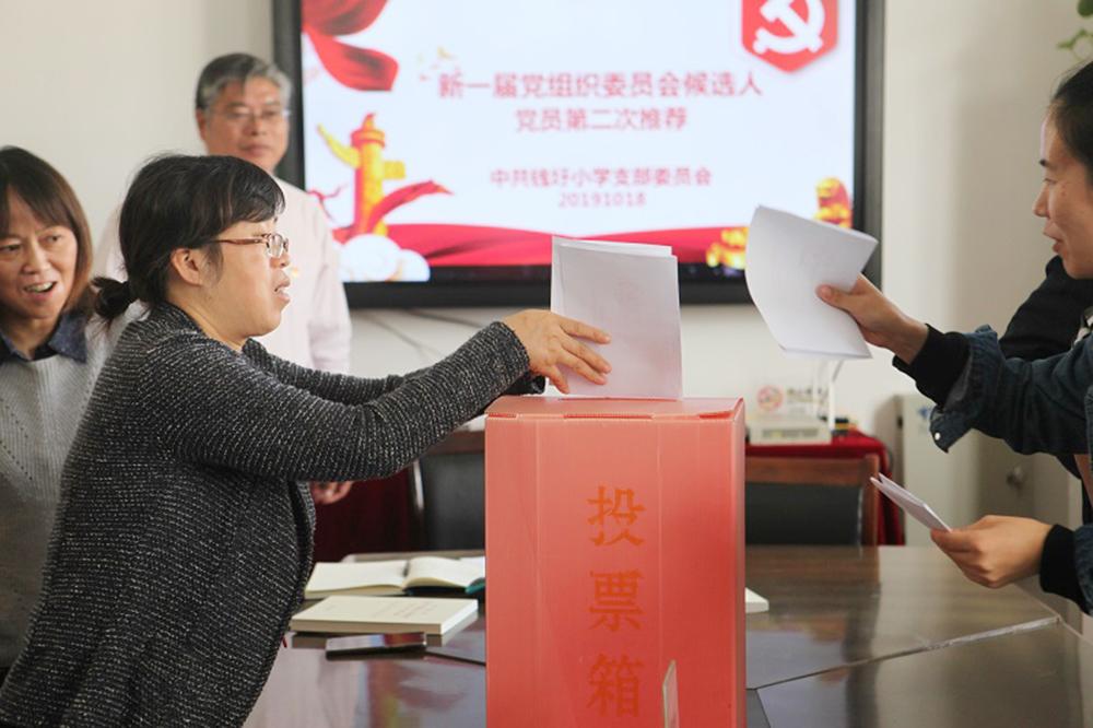 钱圩小学举行党支部第二轮换届选举民主推荐工作