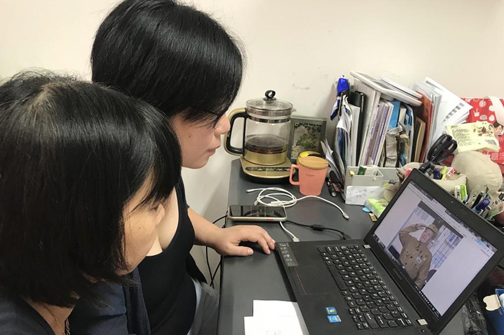 洛川学校党支部组织观看《时代楷模:张富清》专题片