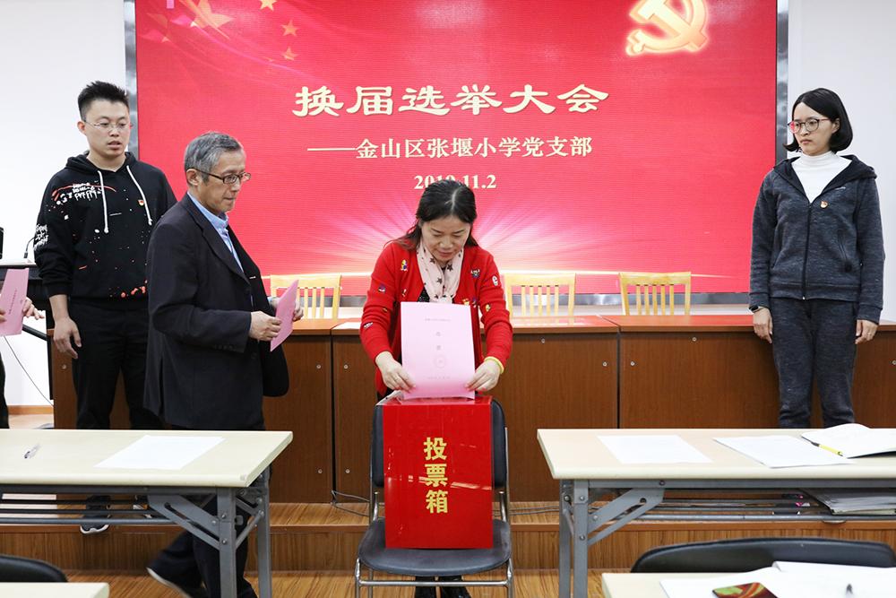 张堰小学党支部举行换届选举大会
