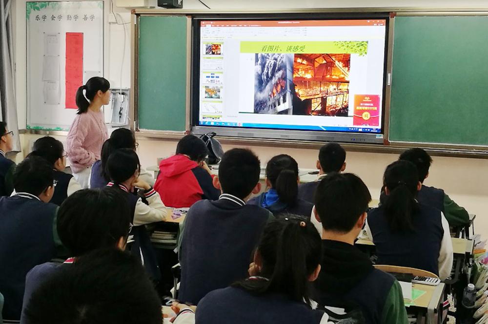 曙光中学:迎进博 筑安防 保平安