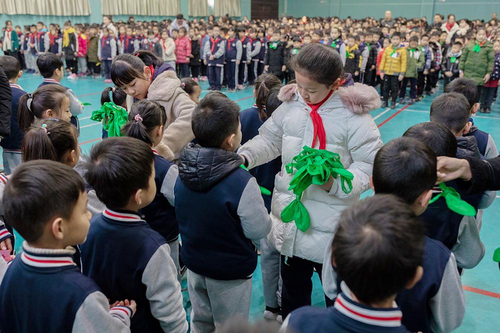 朱泾小学举行2019学年度一年级小红星儿童团入团仪式