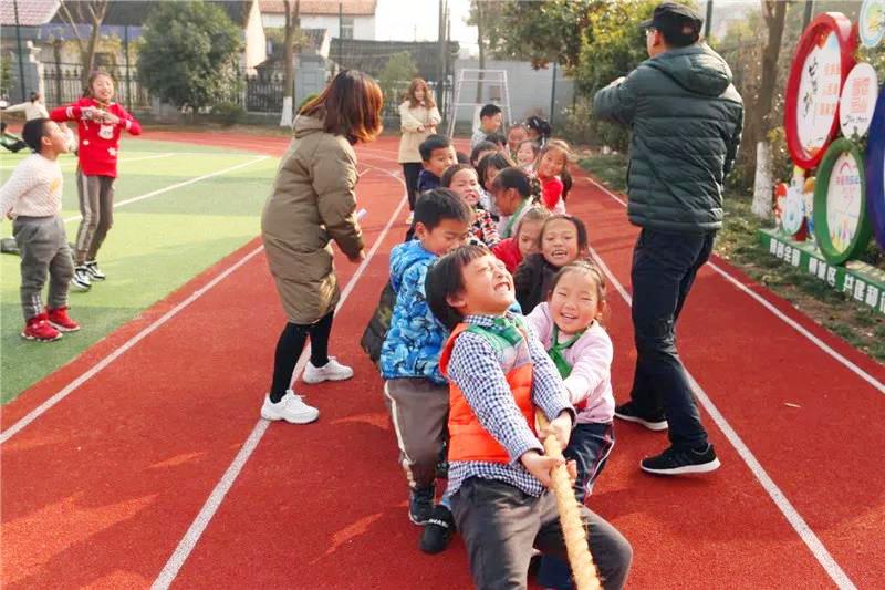 钱圩小学开展冬季趣味运动会