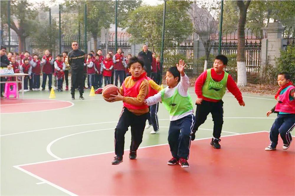 """钱圩小学第二届""""尚之杯""""校园篮球争霸赛举行"""