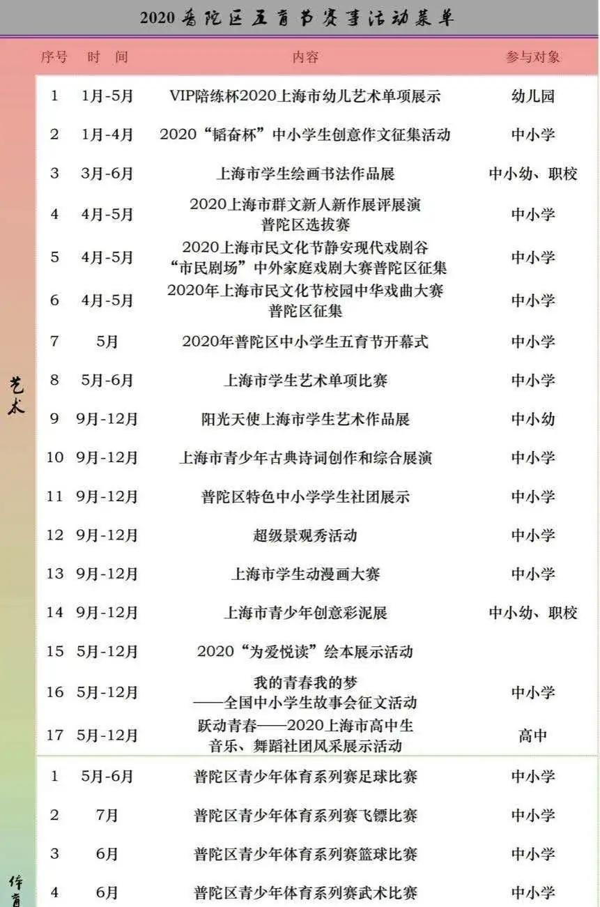 """五育并举,梦想绽放——首届普陀区中小学""""五育节""""开幕式5月25日正式上线"""